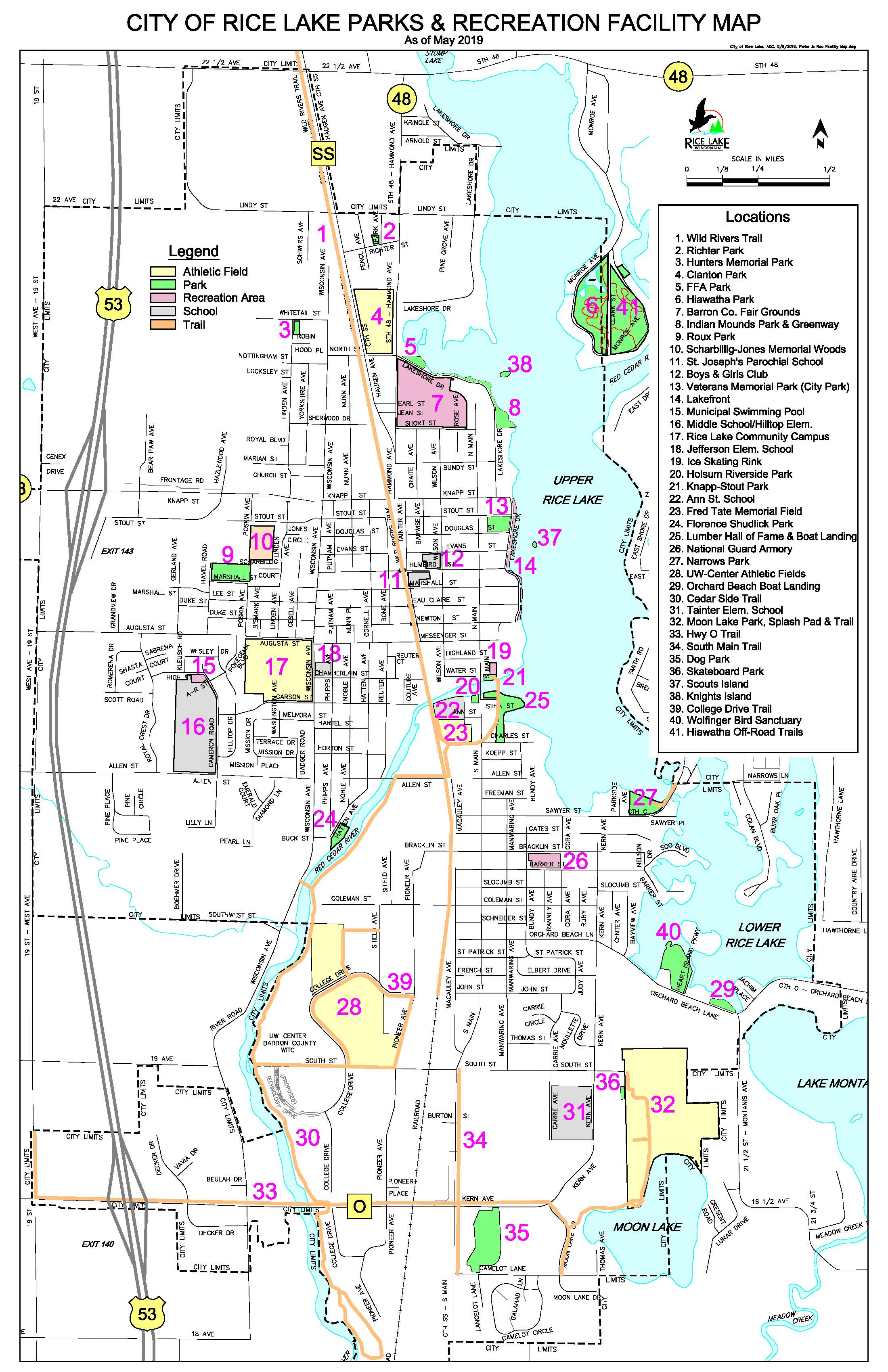 Parks Maps - CITY OF RICE LAKE on